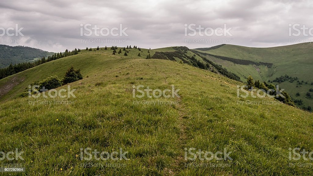 Mala Krizna hill in Velka Fatra in Slovakia stock photo