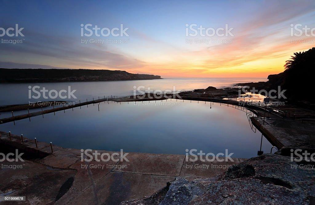 Malabar Pool at Dawn stock photo