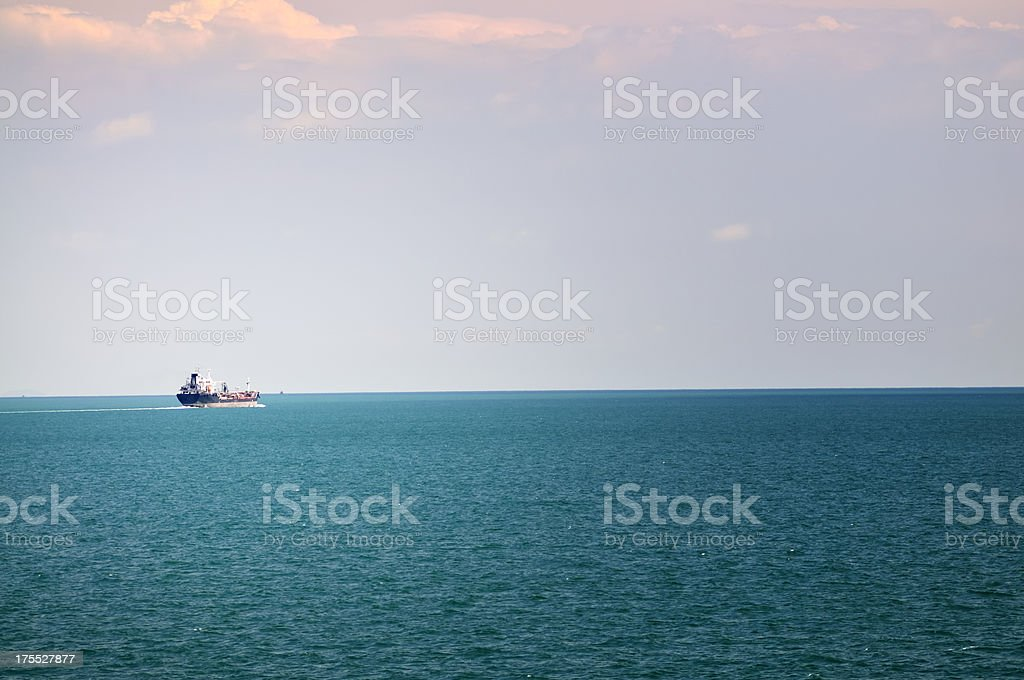 Malacca Strait Tanker royalty-free stock photo