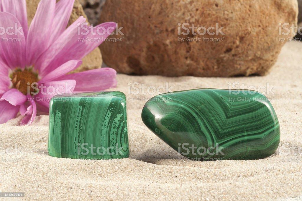 Malachite - half precious stone. guaranteed authentic royalty-free stock photo
