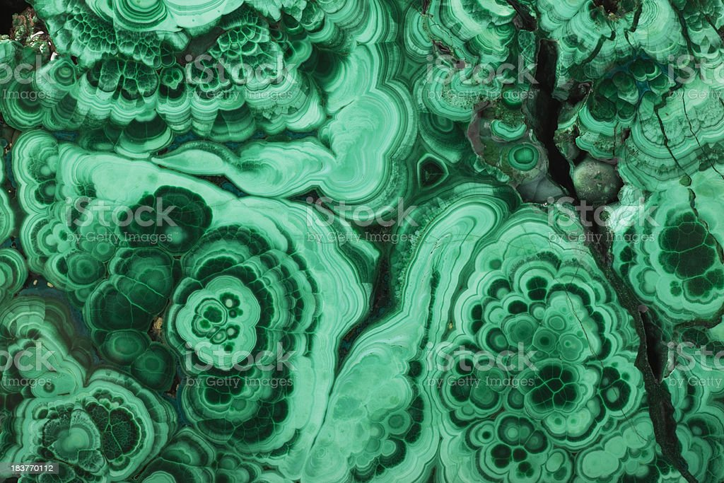 Malachite texture close-up stock photo