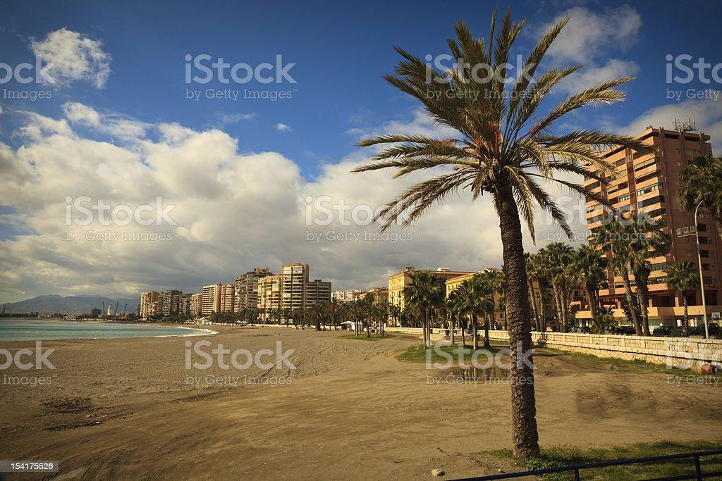 Malaga Beach royalty-free stock photo