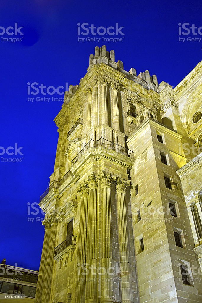 Malaga Cathedral, Andalucia, Spain royalty-free stock photo