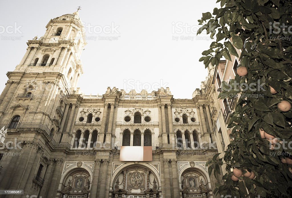 Malaga Cathedral, Andalusia, Spain royalty-free stock photo