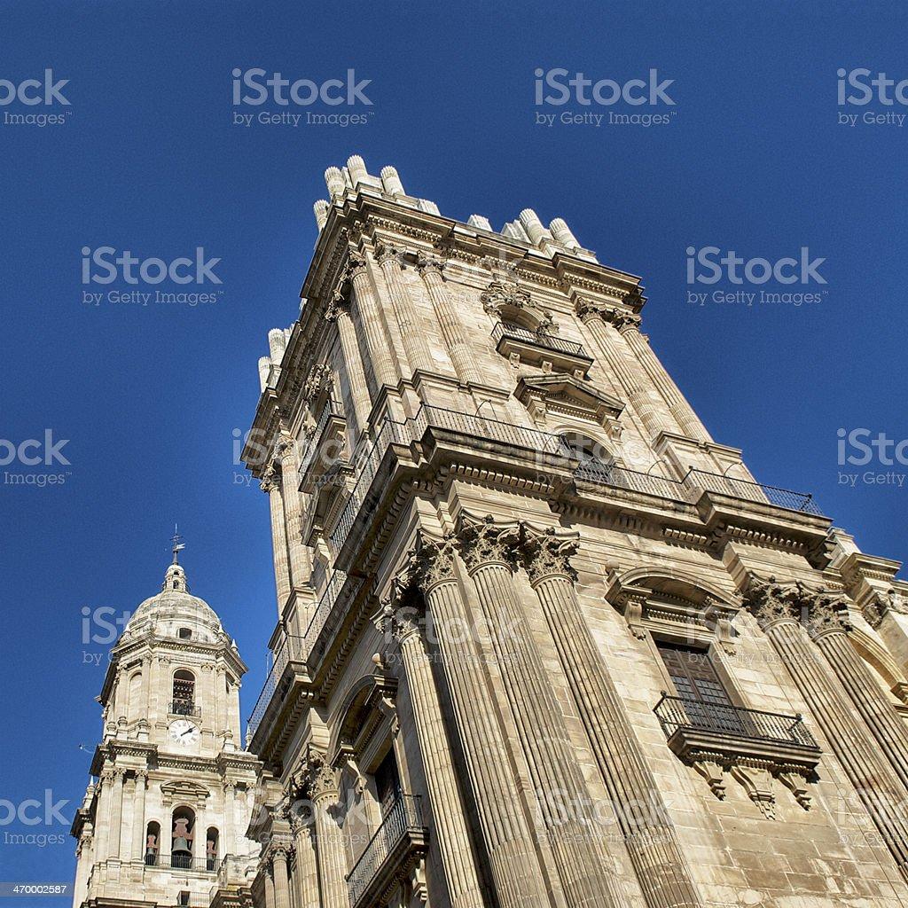 Malaga Cathedral stock photo