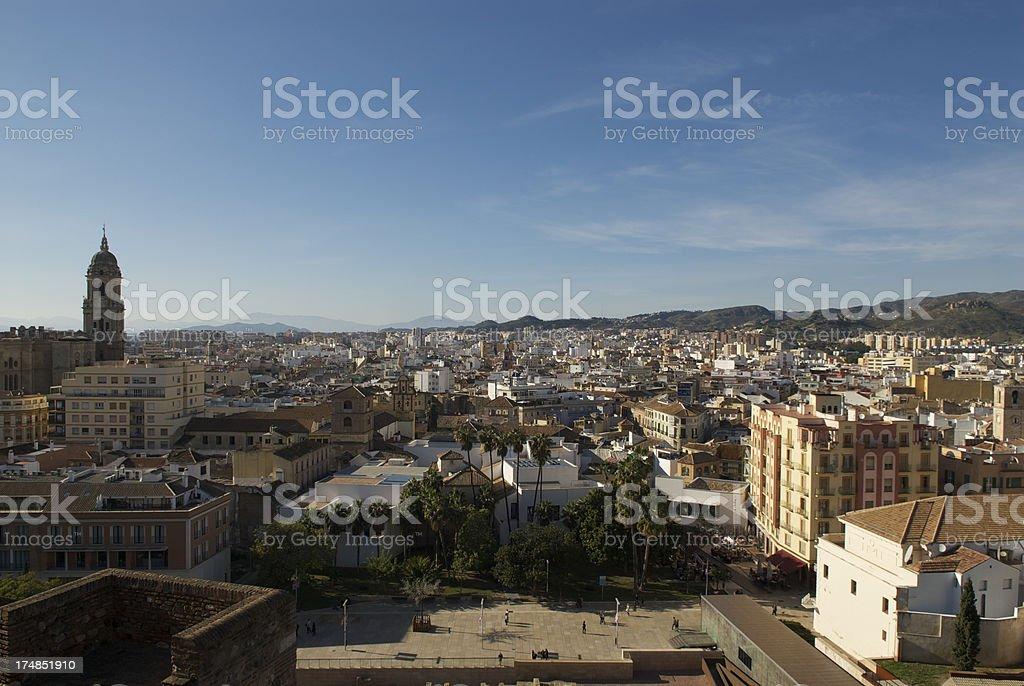 Malaga Cityscape royalty-free stock photo