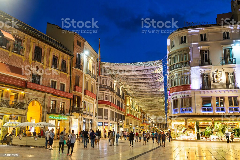 Malaga, in Spain stock photo