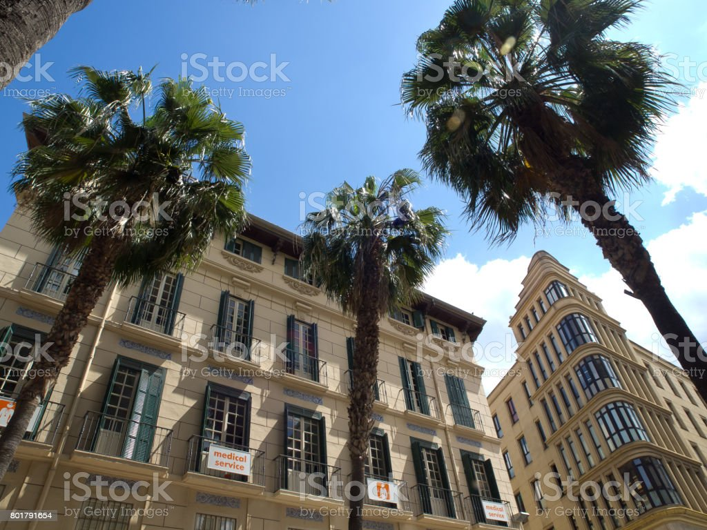 malaga in spain stock photo