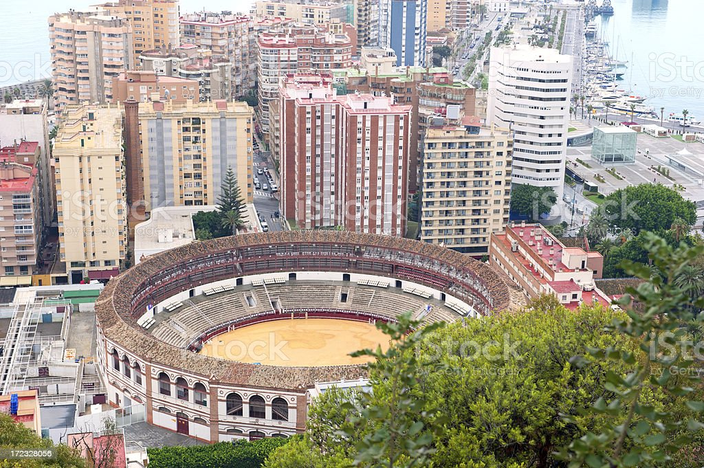 Malaga skyline royalty-free stock photo