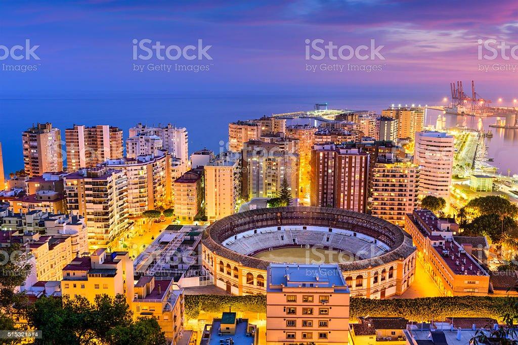 Malaga Skyline stock photo
