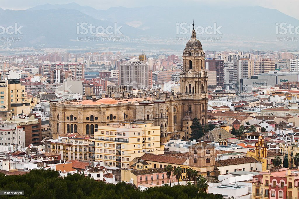 Malaga Spain Cathedral Look Out stock photo
