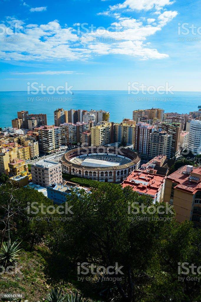 Malaga viewpoint. stock photo