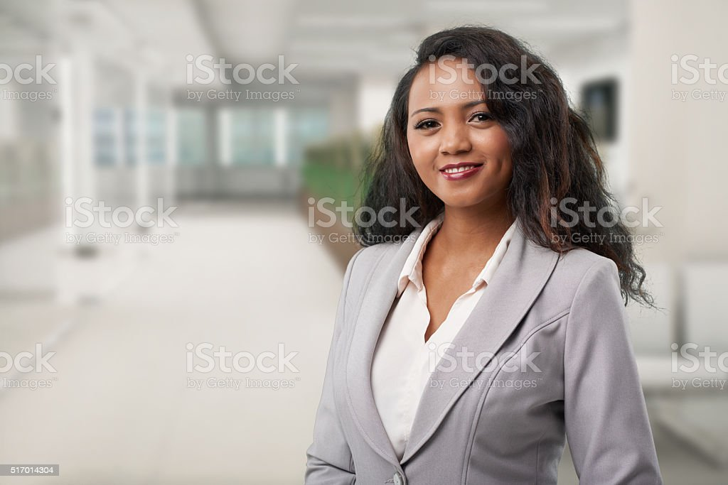 Malagasy business woman stock photo