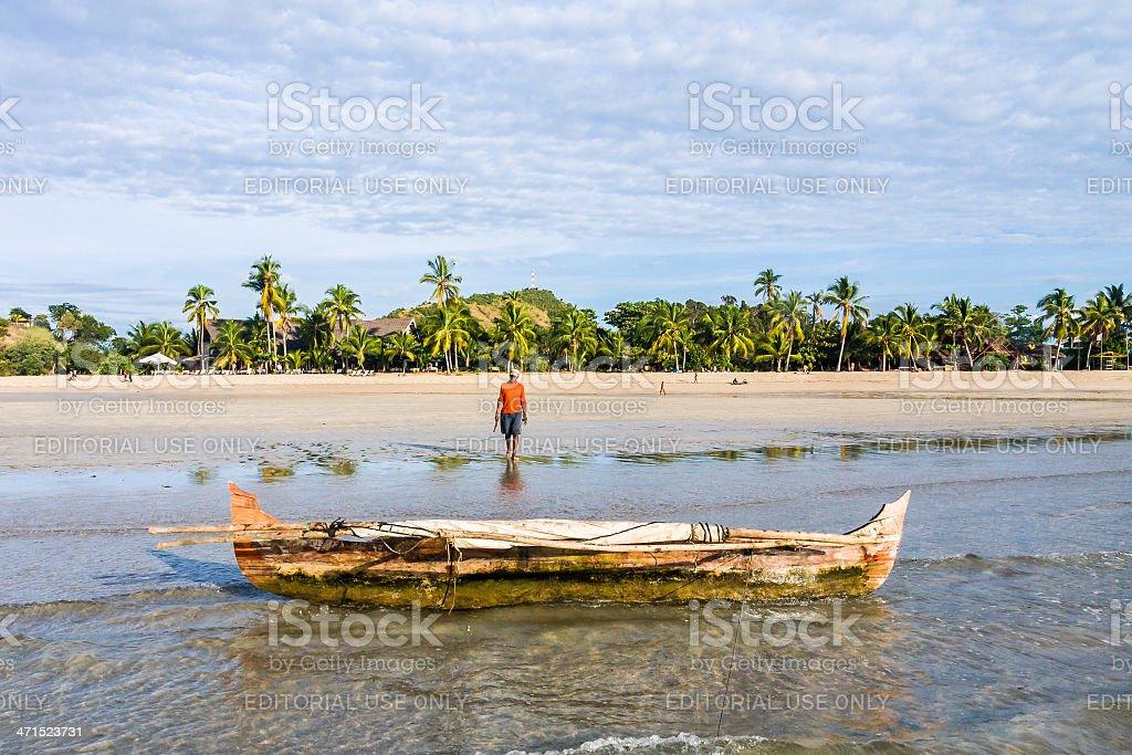 Malagasy fisherman stock photo