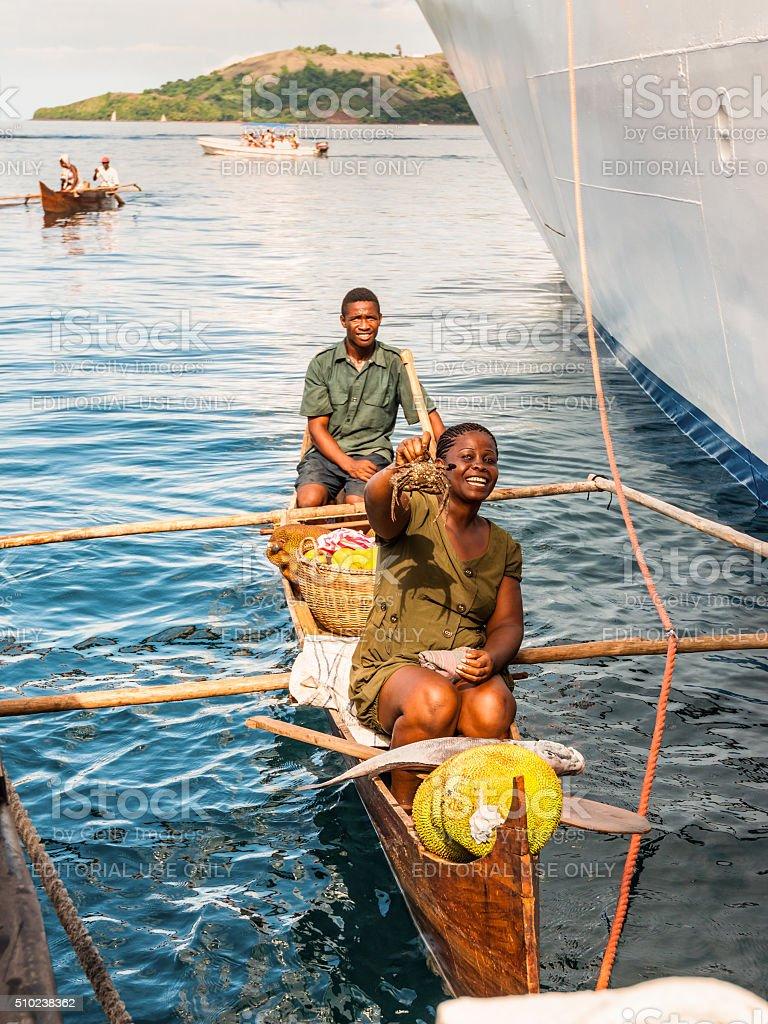 Malagasy Vendors - Madagascar stock photo