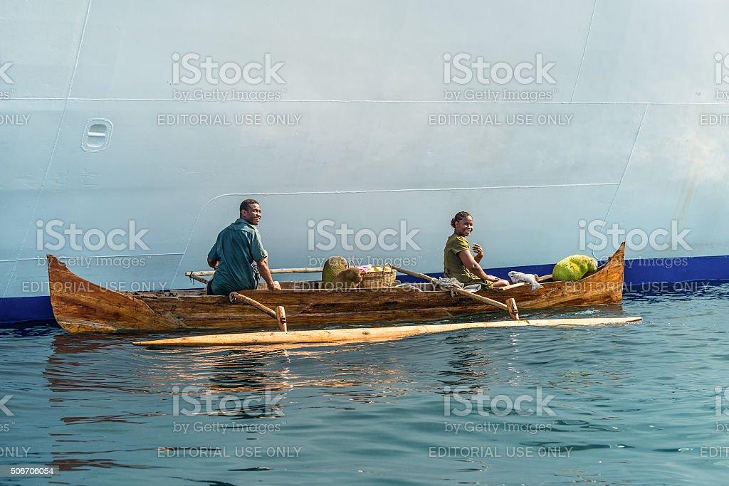 Malagasy vendors stock photo