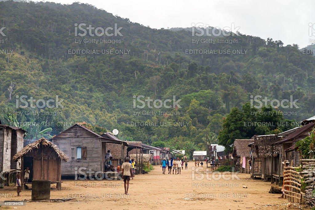 Malagasy village stock photo