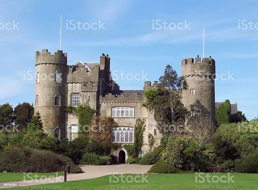 Malahide Castle, Dublin, Ireland. stock photo
