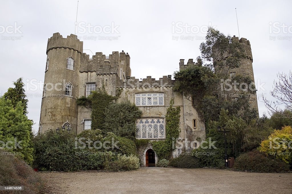 Malahide castle in Ireland royalty-free stock photo