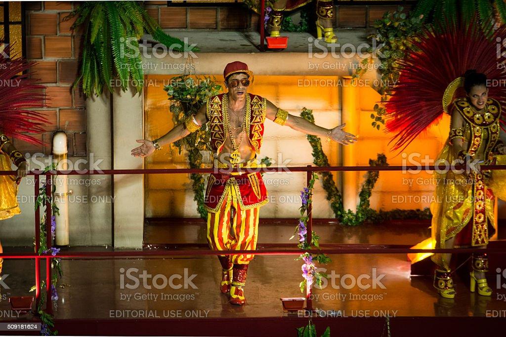 Malandro dancing royalty-free stock photo