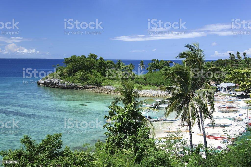 malapascua banka fishing boats philippines royalty-free stock photo