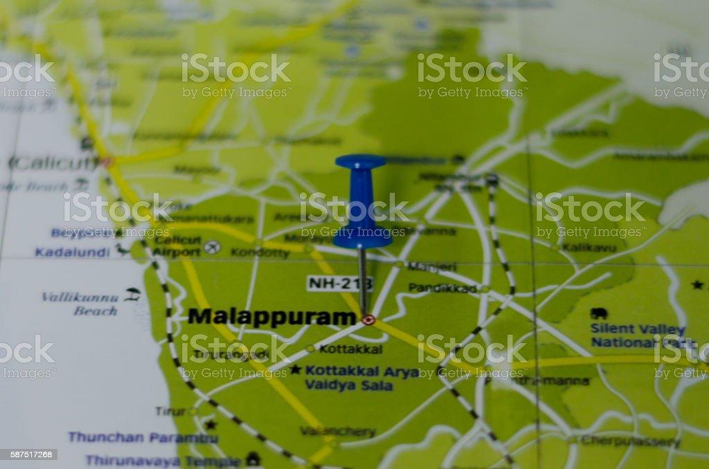 Malappuram map stock photo