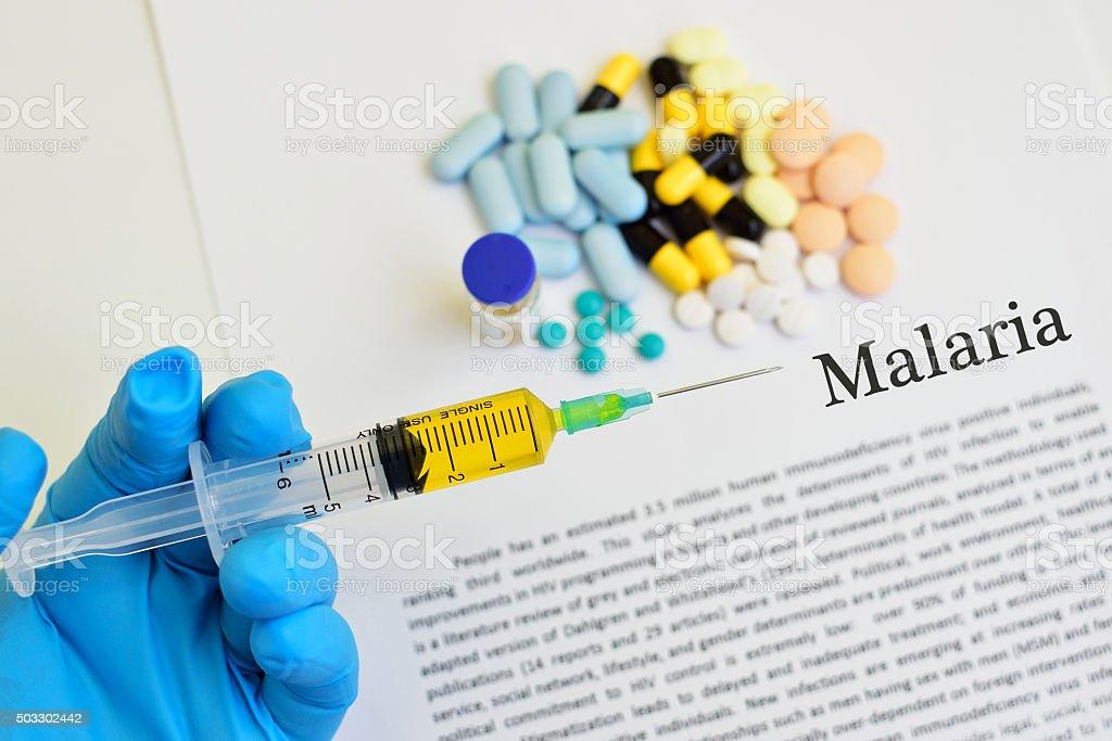 Malaria disease stock photo