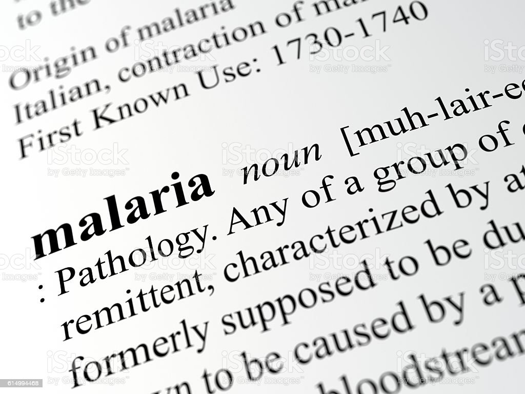Malaria stock photo