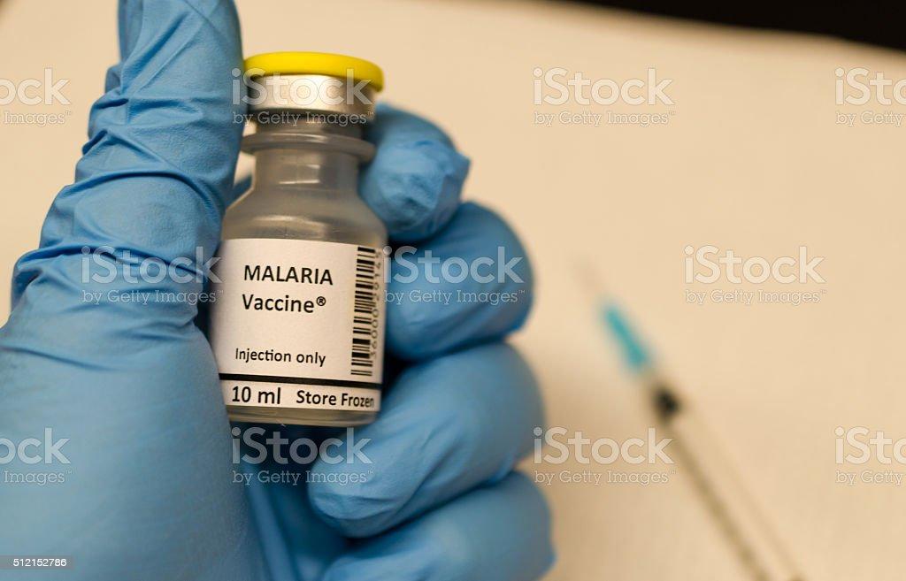 Malaria vaccine stock photo
