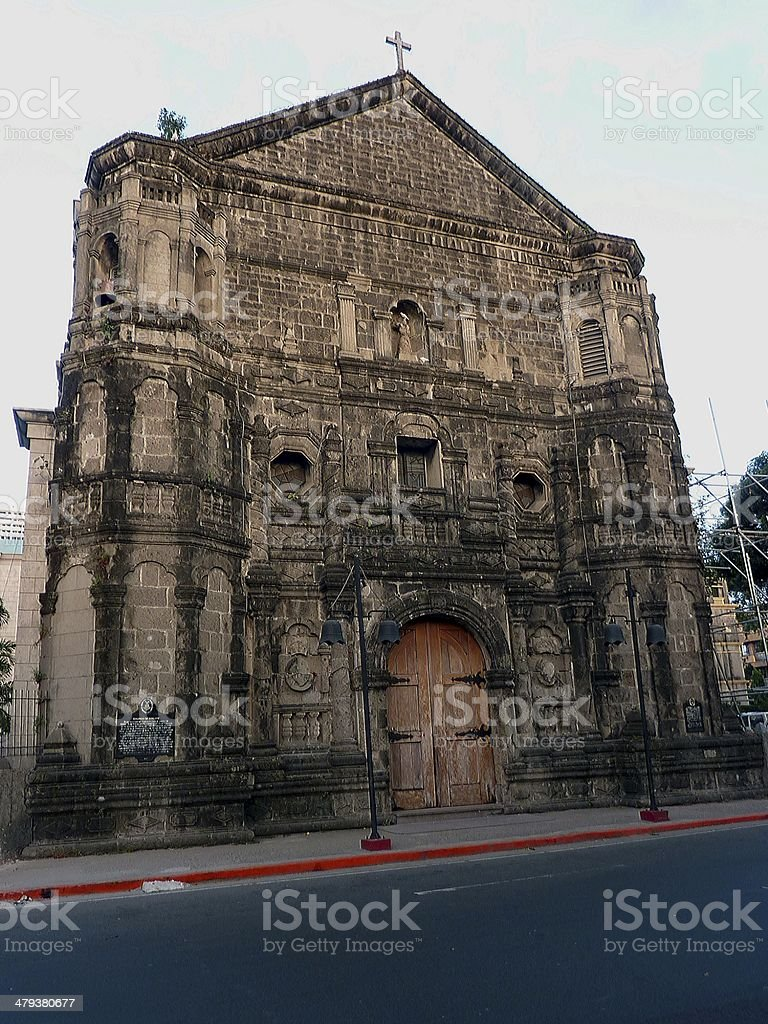 Malate church, Manila Philippines stock photo