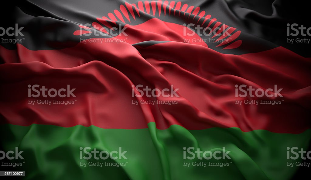 Malawi, Lilongwe national official state flag stock photo