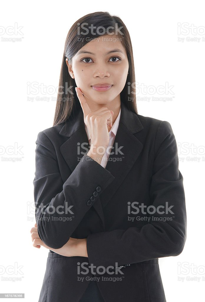 malay business woman royalty-free stock photo