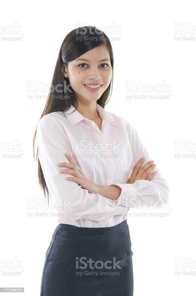 malay business woman royalty-free stock photo