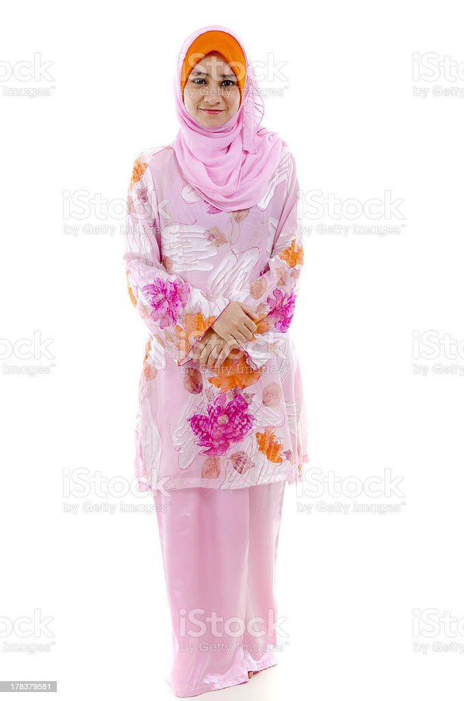 malay girl stock photo