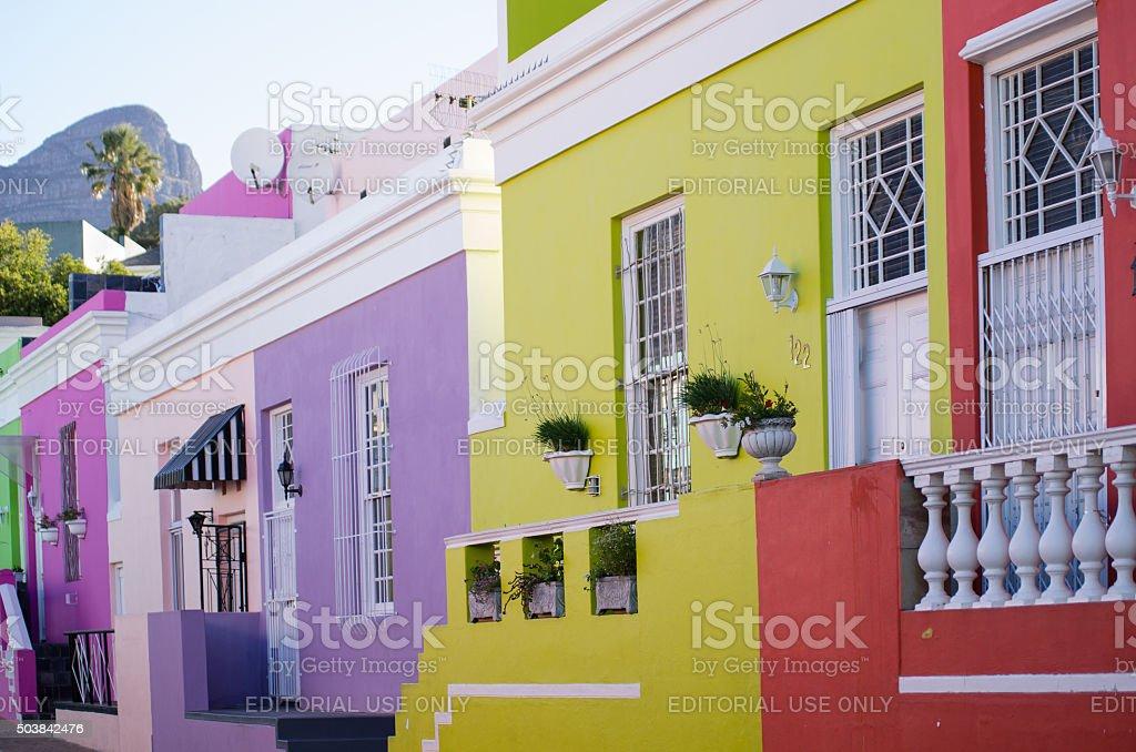 Malay Quarter, Cape Town stock photo