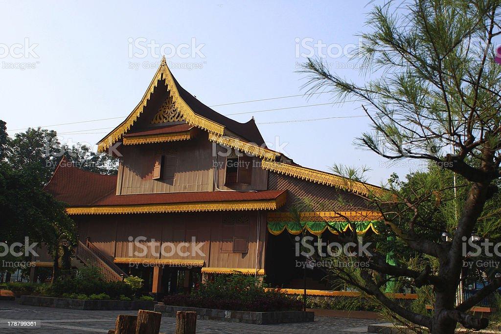 Malay Traditional House royalty-free stock photo