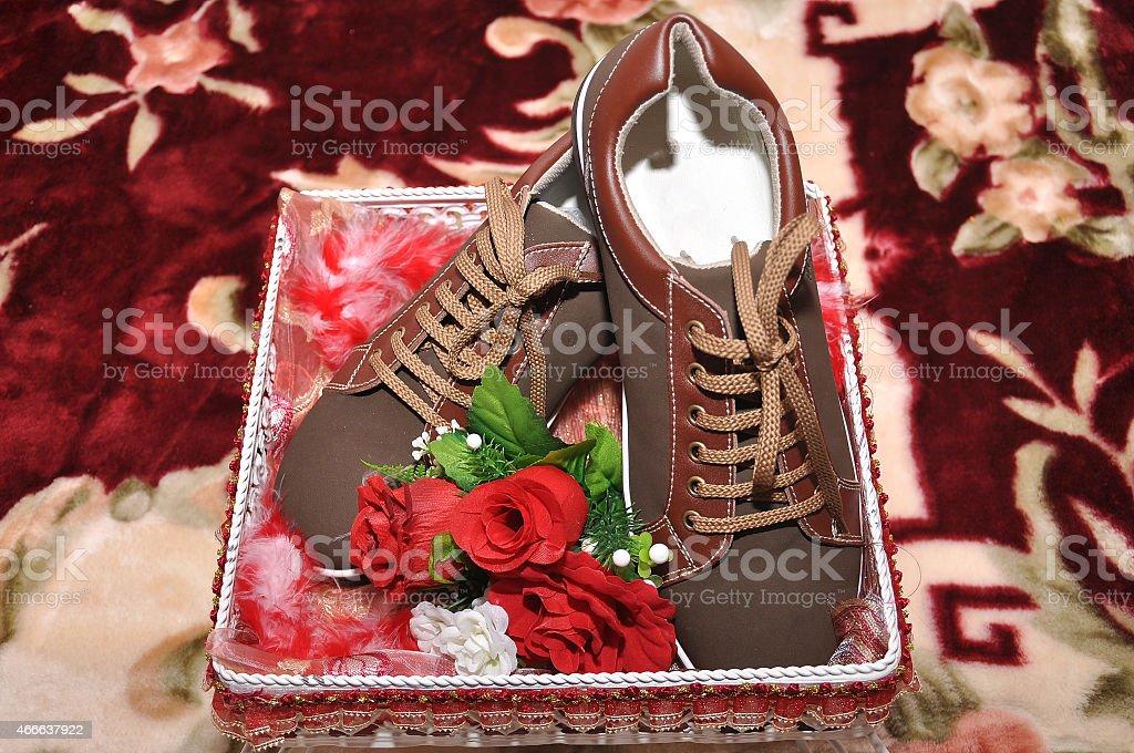 Malay wedding dowry stock photo