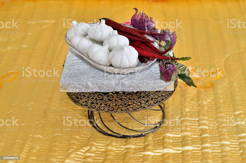 Malay Wedding Present stock photo