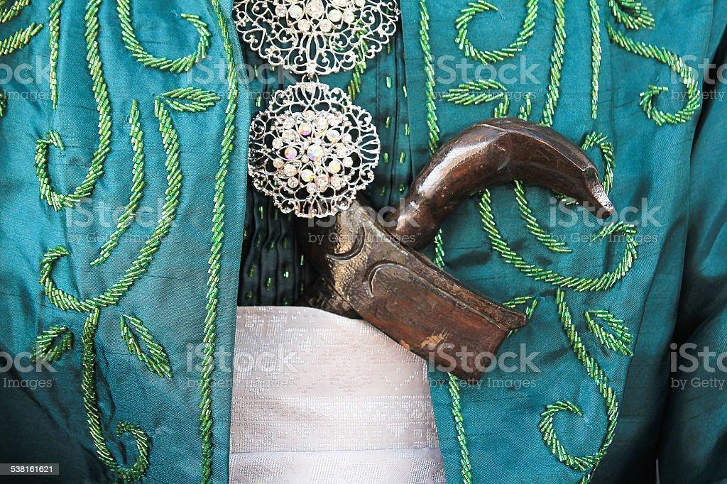 Malay Wedding Weapon - Keris stock photo