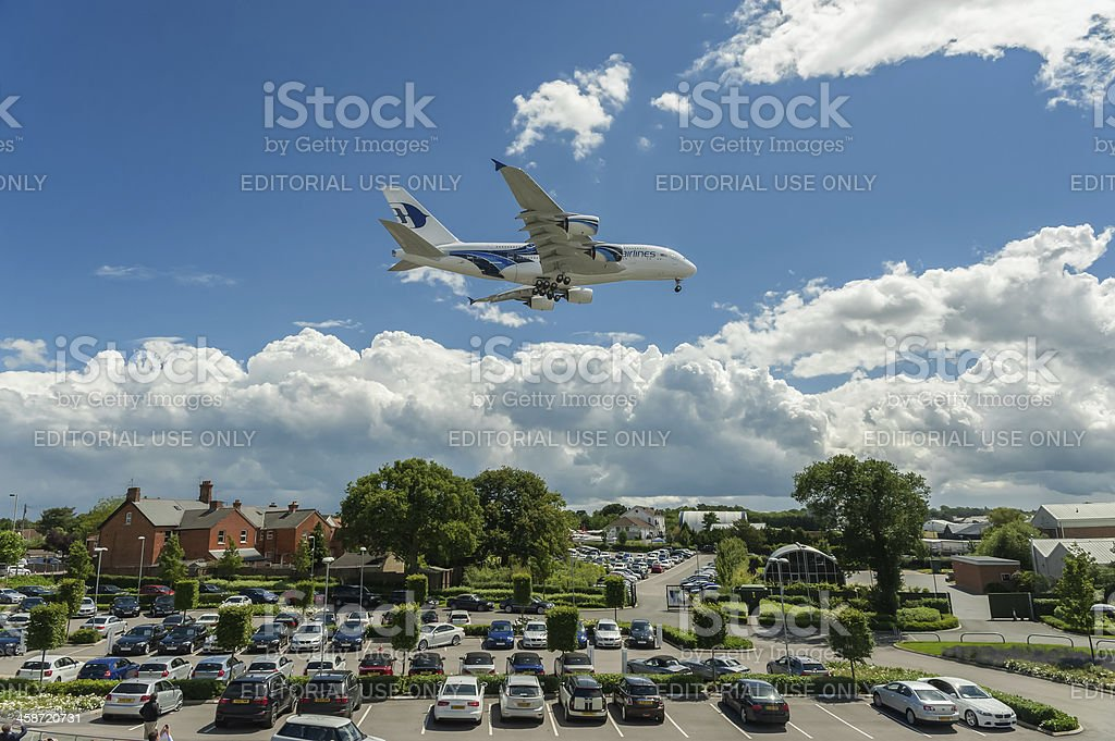 Malaysia Airlines A380 stock photo