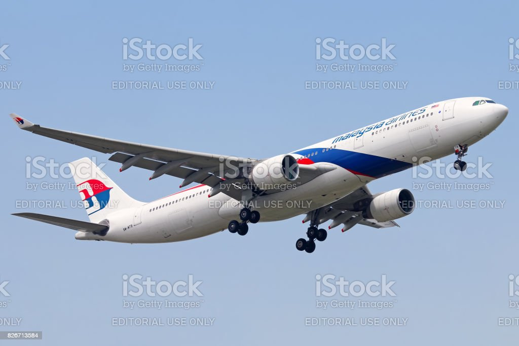 Malaysia Airlines aircraft stock photo