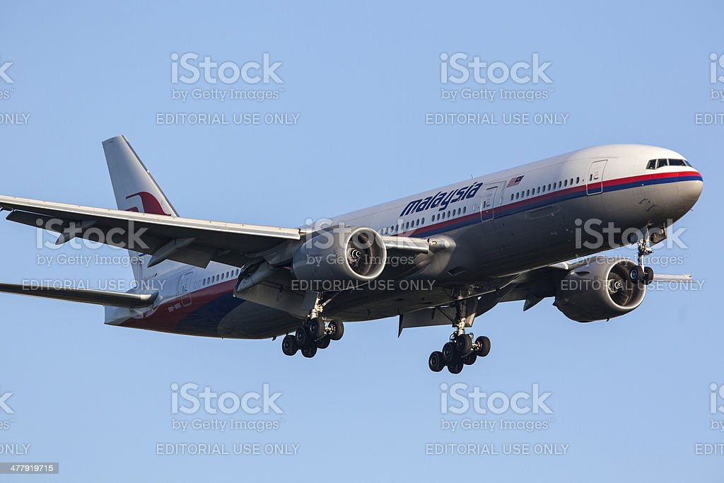 Malaysia Airlines Boeing 777-200/ER royalty-free stock photo