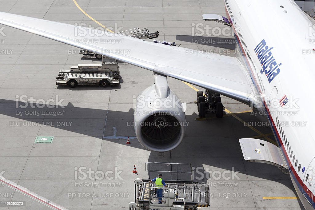 Malaysia Airlines plane stock photo
