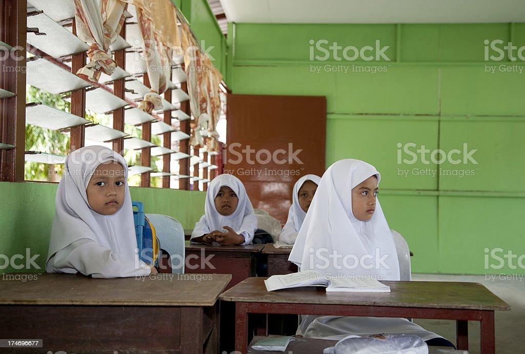 Malaysia, at school. royalty-free stock photo
