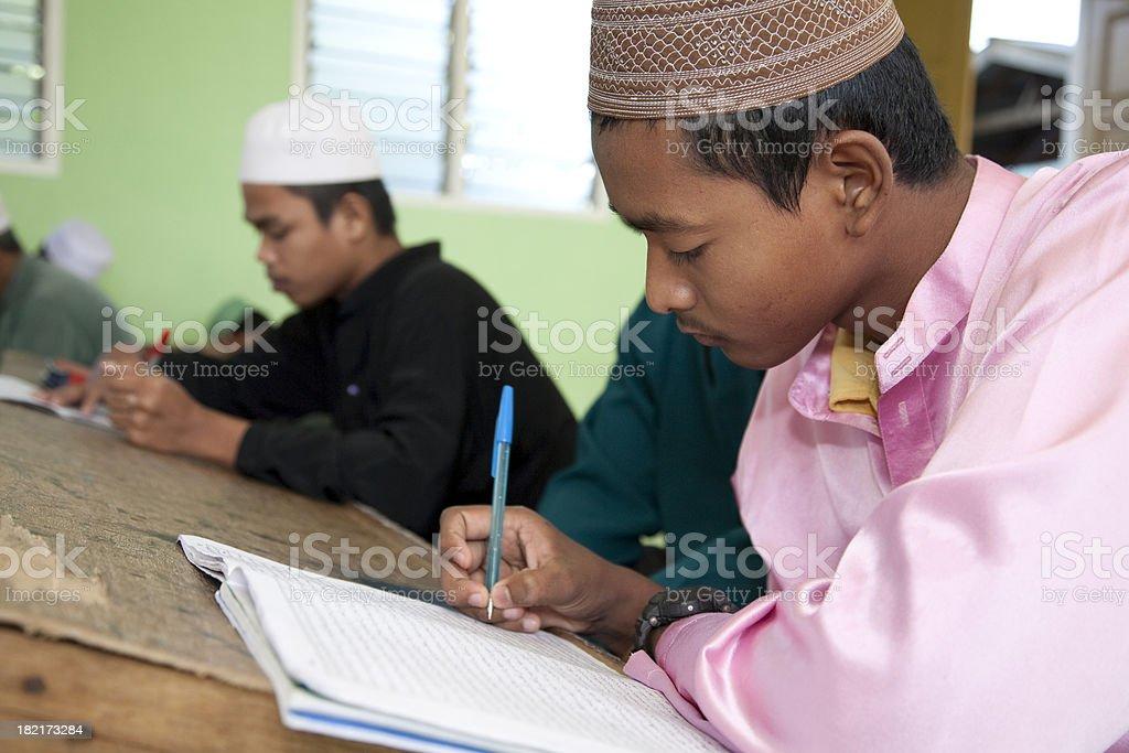 Malaysia, elementary student, Kota Bharu. stock photo