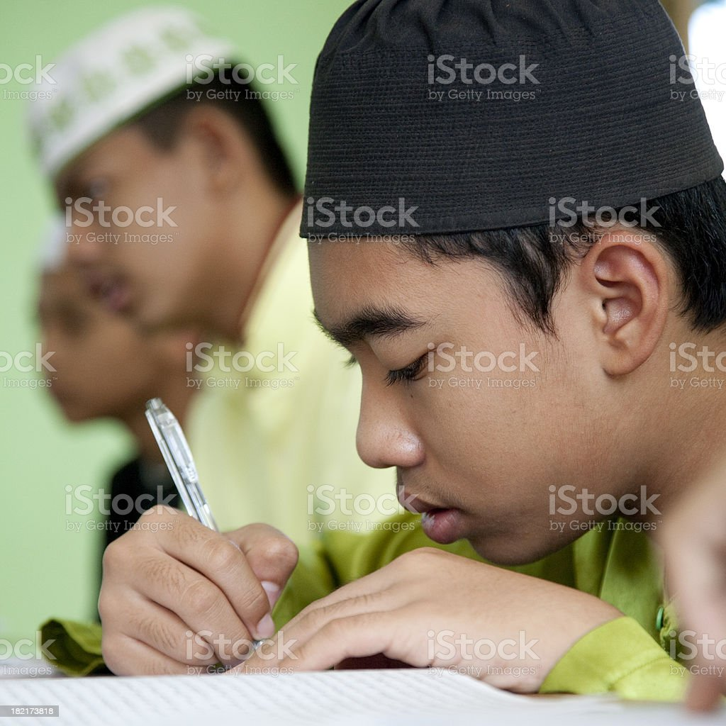 Malaysia, elementary student, Kota Bharu. royalty-free stock photo