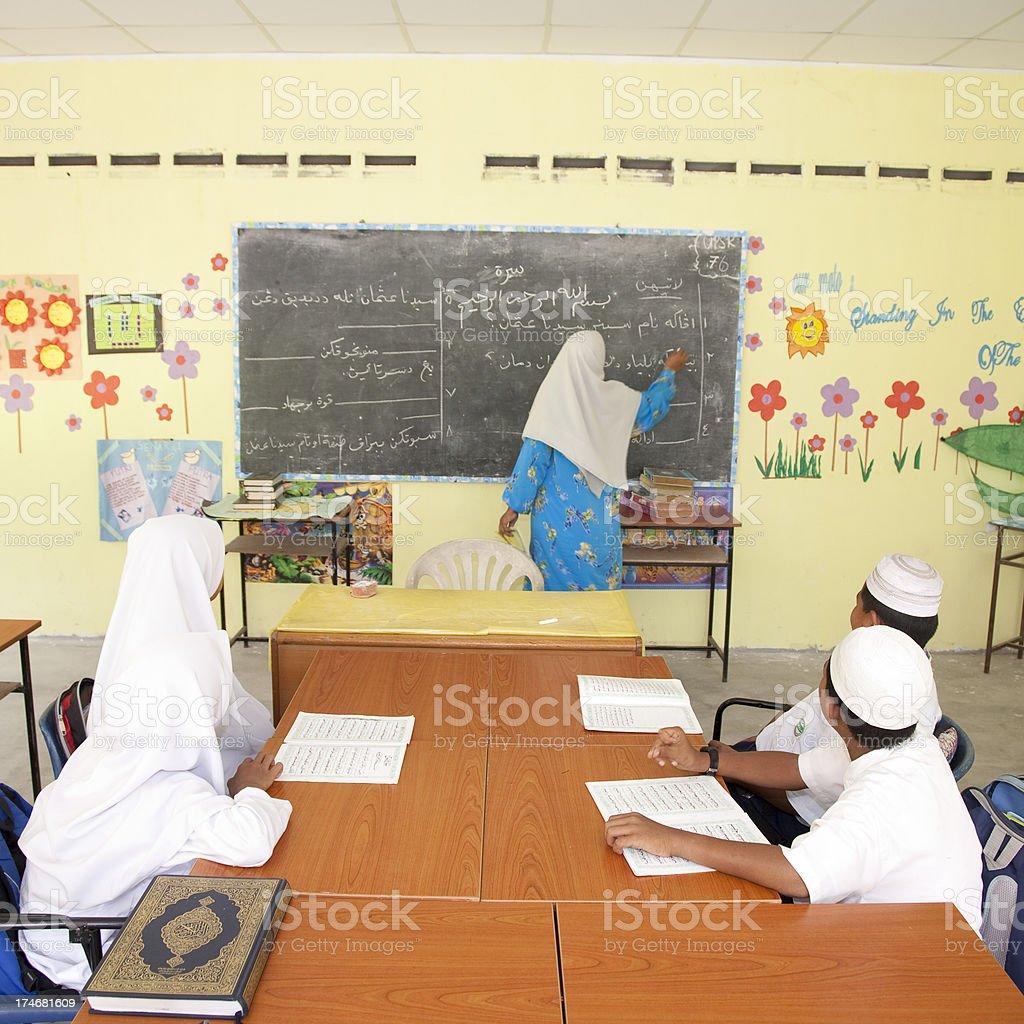 Malaysia, elementary student. royalty-free stock photo