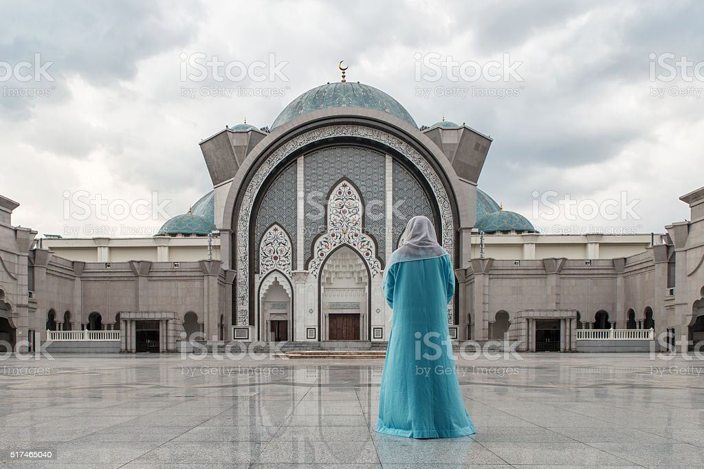 Malaysia Mosque with Muslim pray in Malaysia, Asian stock photo