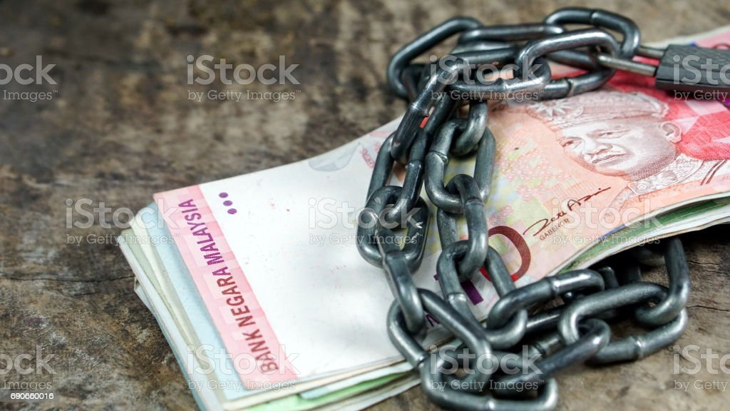 Malaysia Ringgit bills and banknotes. stock photo