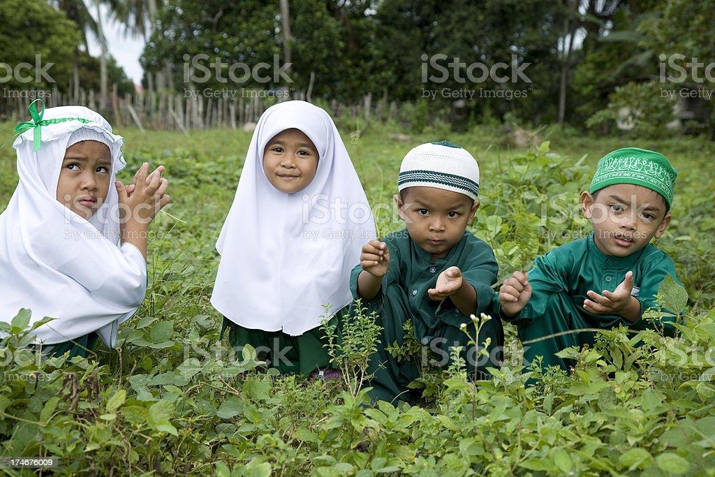 Malaysia, schoolboys and schoolgirls. stock photo